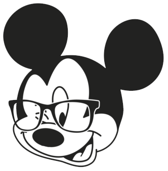 Mickey Face w/Glasses.