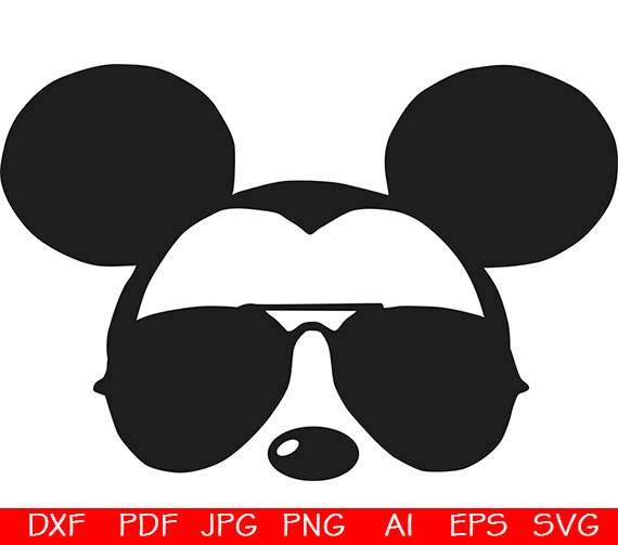 Mickey sunglasses svg / Mickey Head Face / Mickey Mouse face.