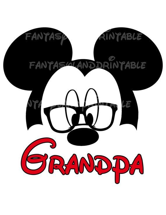 Mickey Mouse Glasses Classic Silhouette by.