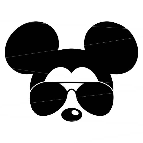 Mickey Mouse Glasses Clipart.