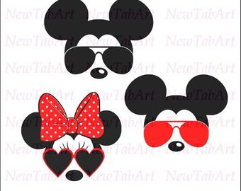 Mickey Mouse With Sunglasses Svg Free.