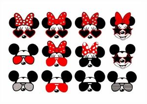 Details about *****12 DISNEY MICKEY MINNIE MOUSE  SUNGLASSES***FABRIC/T.