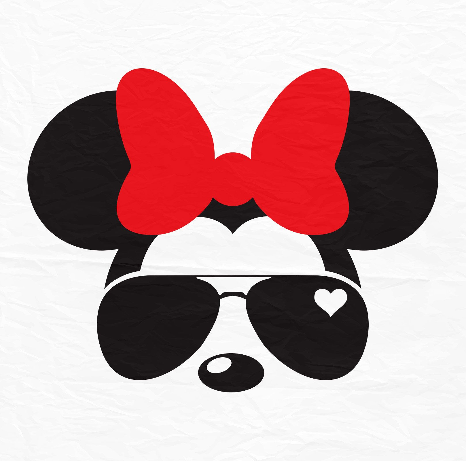 Disney Mickey Minnie Mouse Aviators Sunglasses Icon.