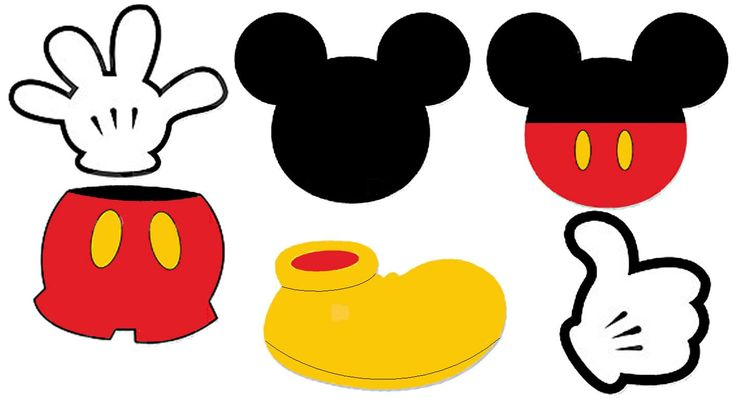 Mickey mouse shoe clipart.