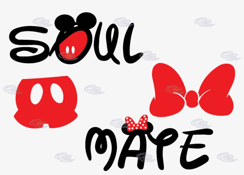Soul Mate Mickey Mouse Pants Minnie Mouse Bow.