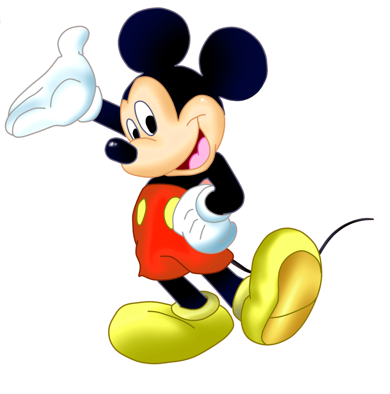 Mickey Sideview transparent PNG.