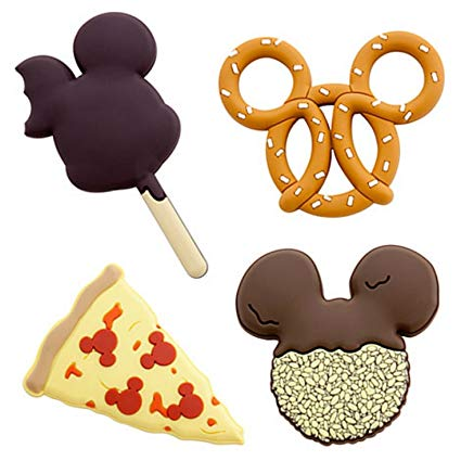 Buy Disney Parks 4 Disney Food Magnets Pizza, Mickey Ice.