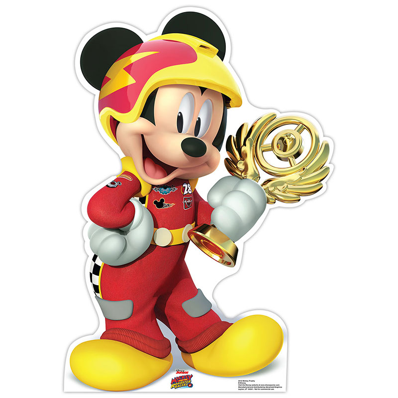 Details about MICKEY MOUSE Mickey & Roadster Racers CARDBOARD CUTOUT  Standup Standee Poster.
