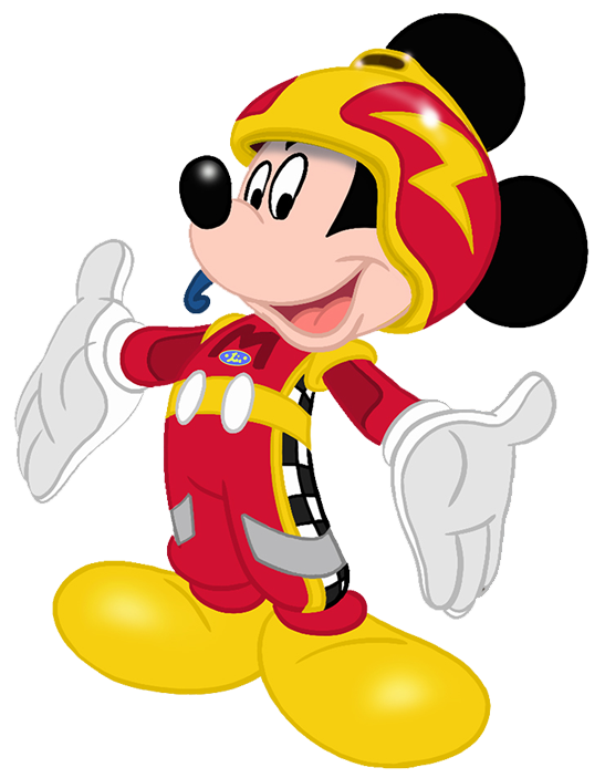 Mickey Mouse Roadster Racer Clipart.