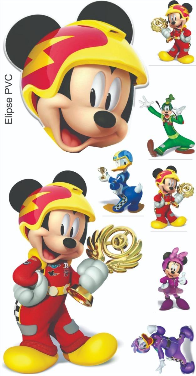 Cenário Mickey Aventura Sobre Rodas 8 Itens.