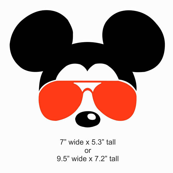 Mickey With Sunglasses Silhouette.