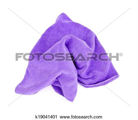 Stock Photography of Purple microfiber cloth. k19041401.