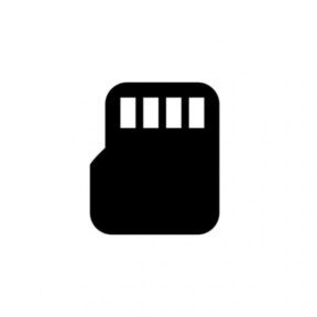 micro sd card clipart