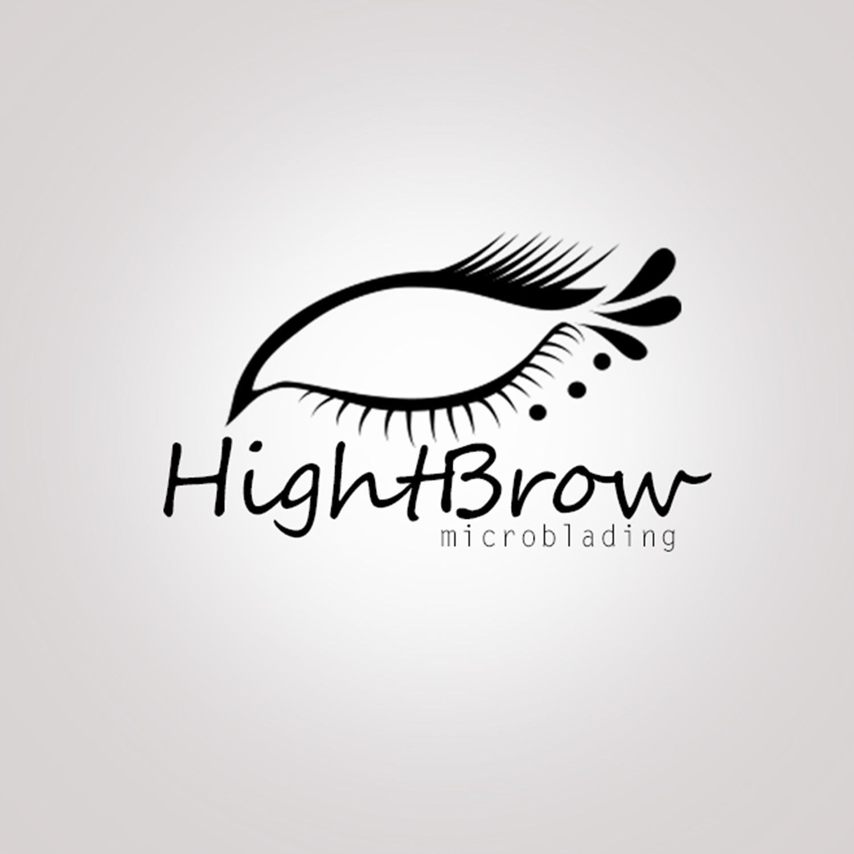 Elegant, Serious, Beauty Salon Logo Design for High Brow.