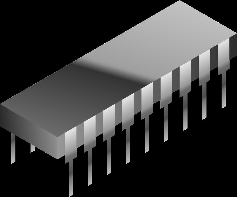 Free Simple Silver Microchip Clip Art.