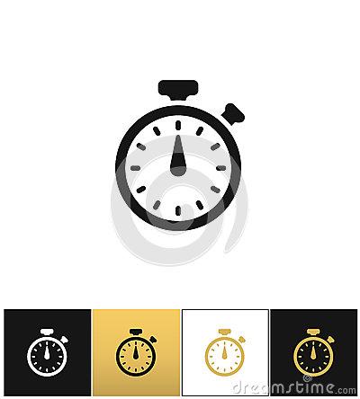 Analogue Stopwatch Stock Photo.
