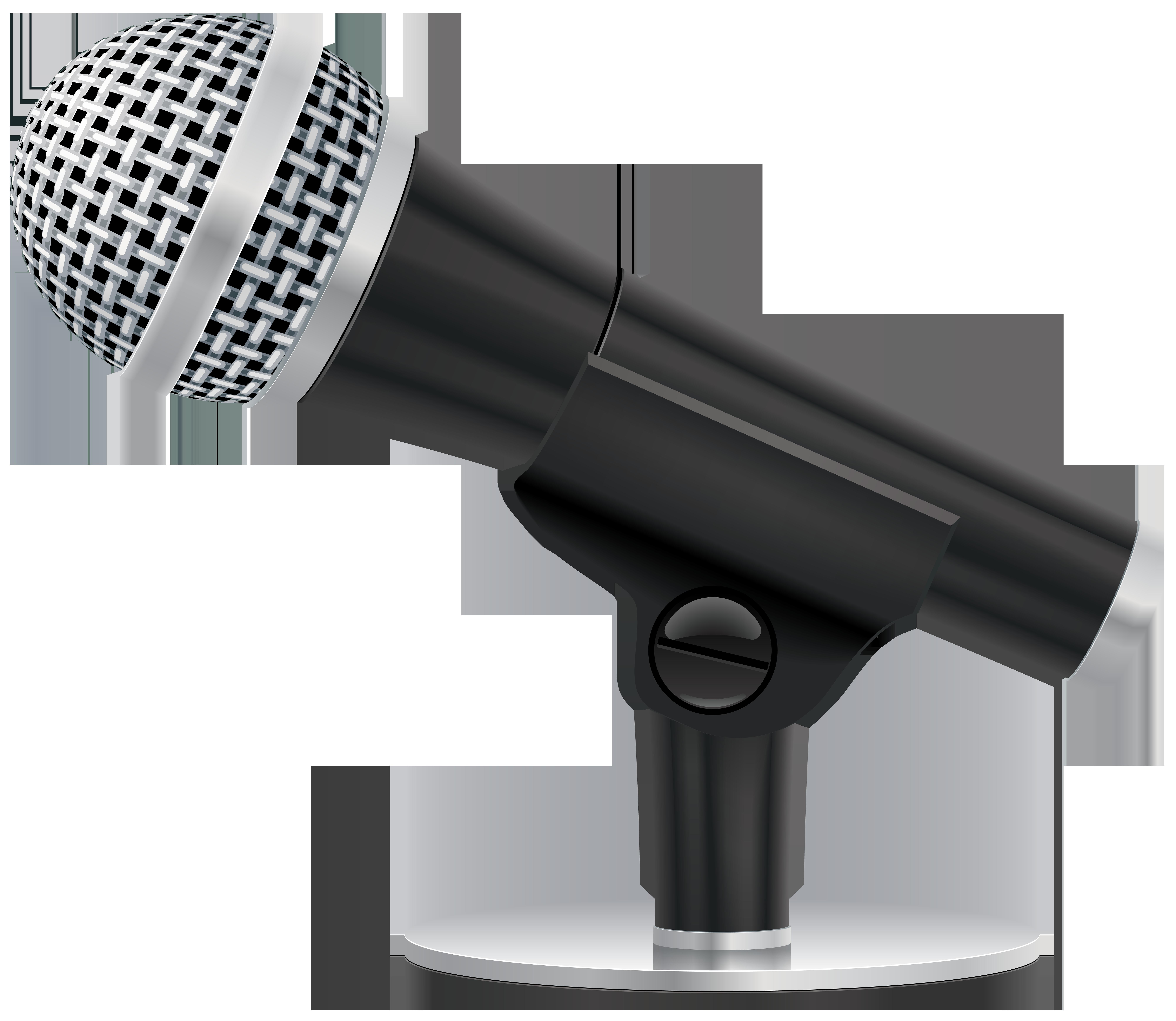 Studio Microphone PNG Clip Art Image.