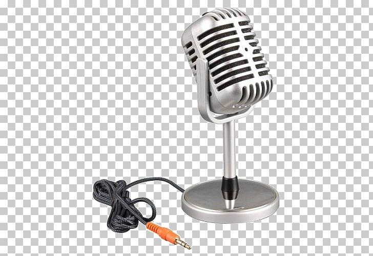 Estudio de grabación de micrófono de cinta computadora.