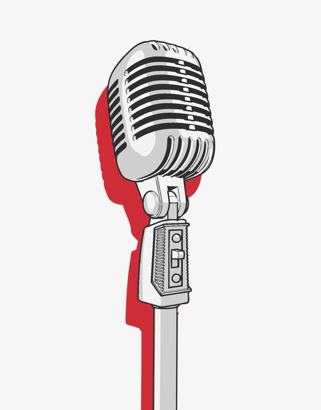 Microphone, Red Silver Microphone, Creative Personality.