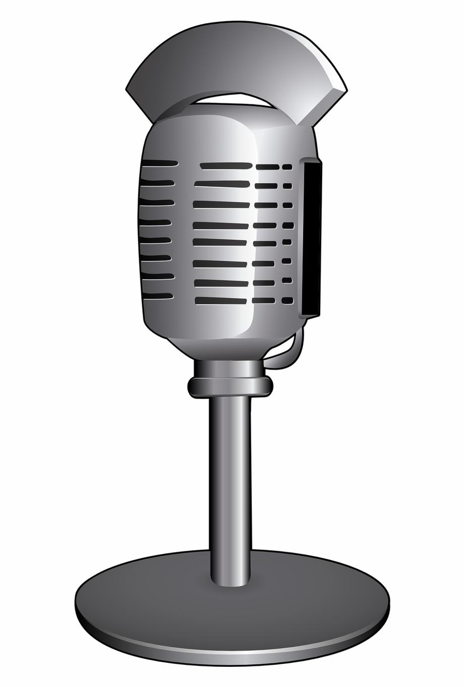 Microphone Vintage Radio Png Image.