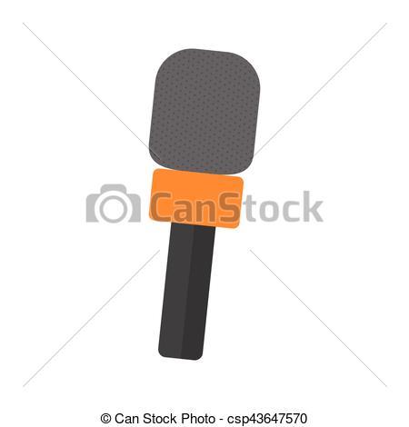 Profesional, micrófono, equipo Clipart EPS.