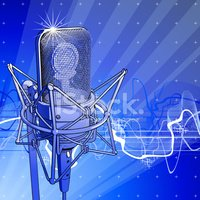 Micrófono Profesional & DE LA Onda Acústica vectores en.