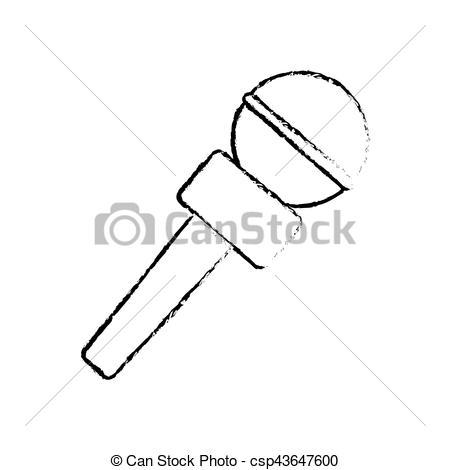 Profesional, micrófono, equipo. Micrófono, gráfico.
