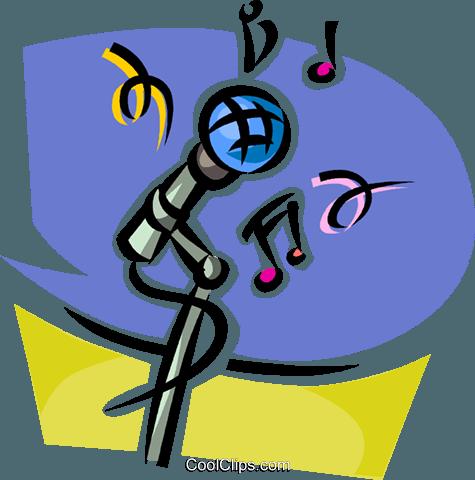 Micrófono libres de derechos ilustraciones de vectores.