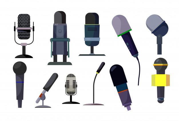 Set de micrófonos profesionales..