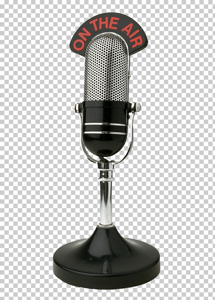 Wireless microphone Internet radio, microphone PNG clipart.