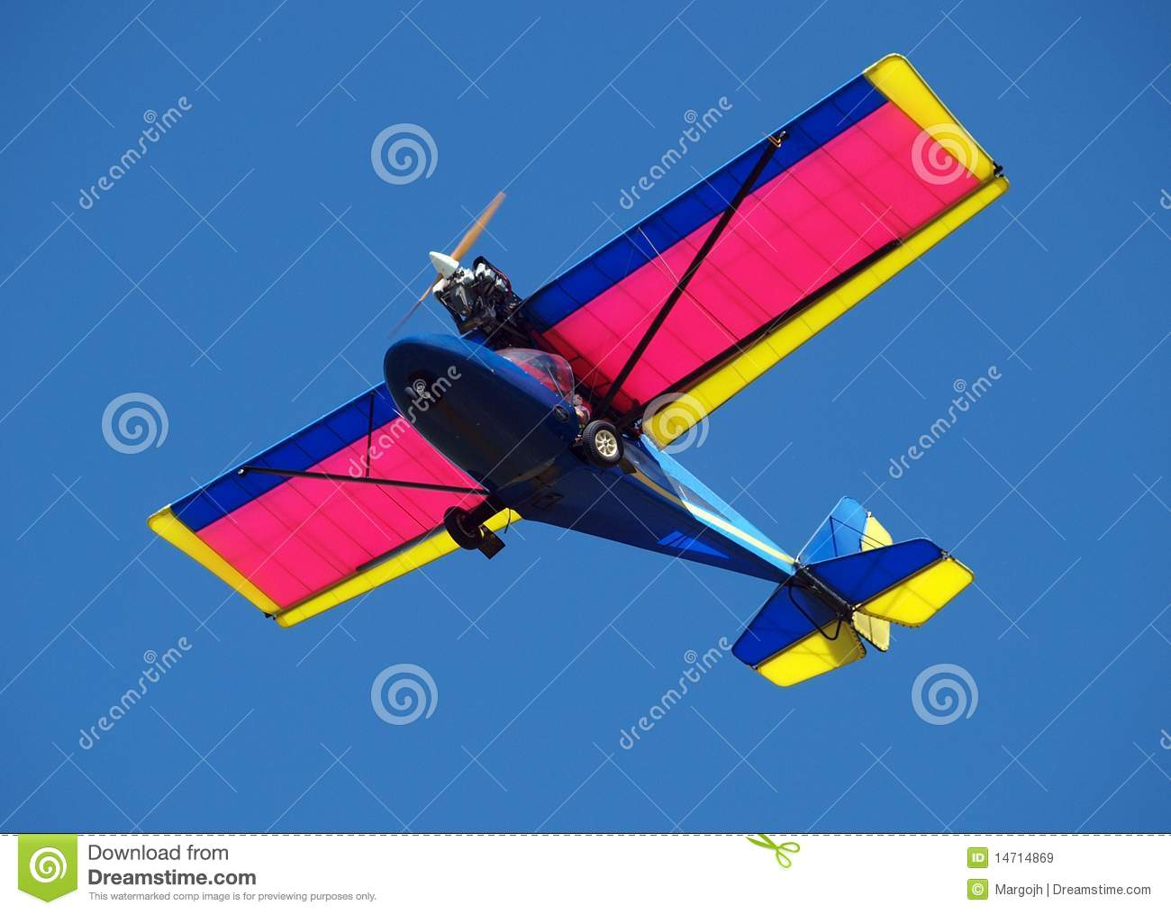 Microlight Plane Royalty Free Stock Images.