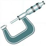 Measuring Equipment Micrometer Stock Illustrations.