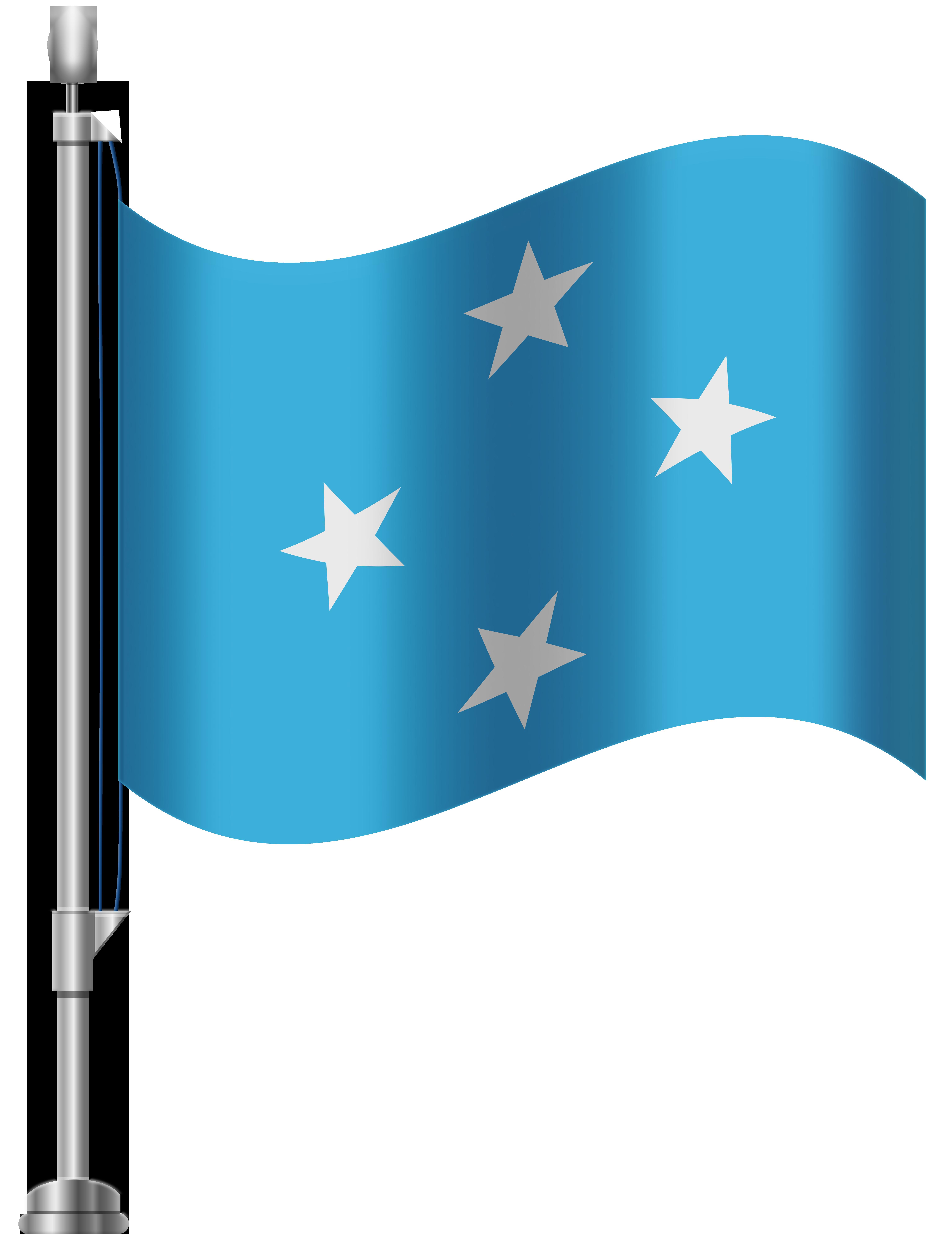 Micronesia Flag PNG Clip Art.