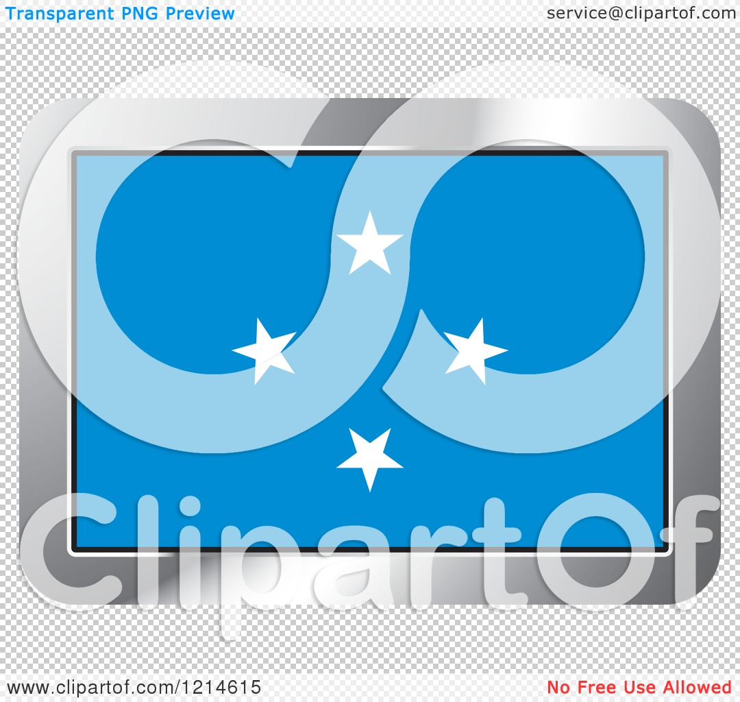 Clipart of a Micronesia Flag and Silver Frame Icon.