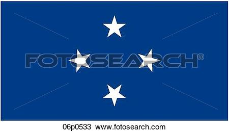Clipart of micronesia flag 06p0533.