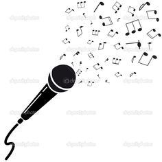 Image result for cartoon microphone.