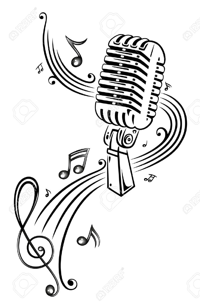 Sheet Music, Music, Microphone Royalty Free Cliparts, Vectors, And.
