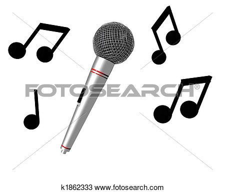 microphone with music notes clipart clipart music notes 20 music.