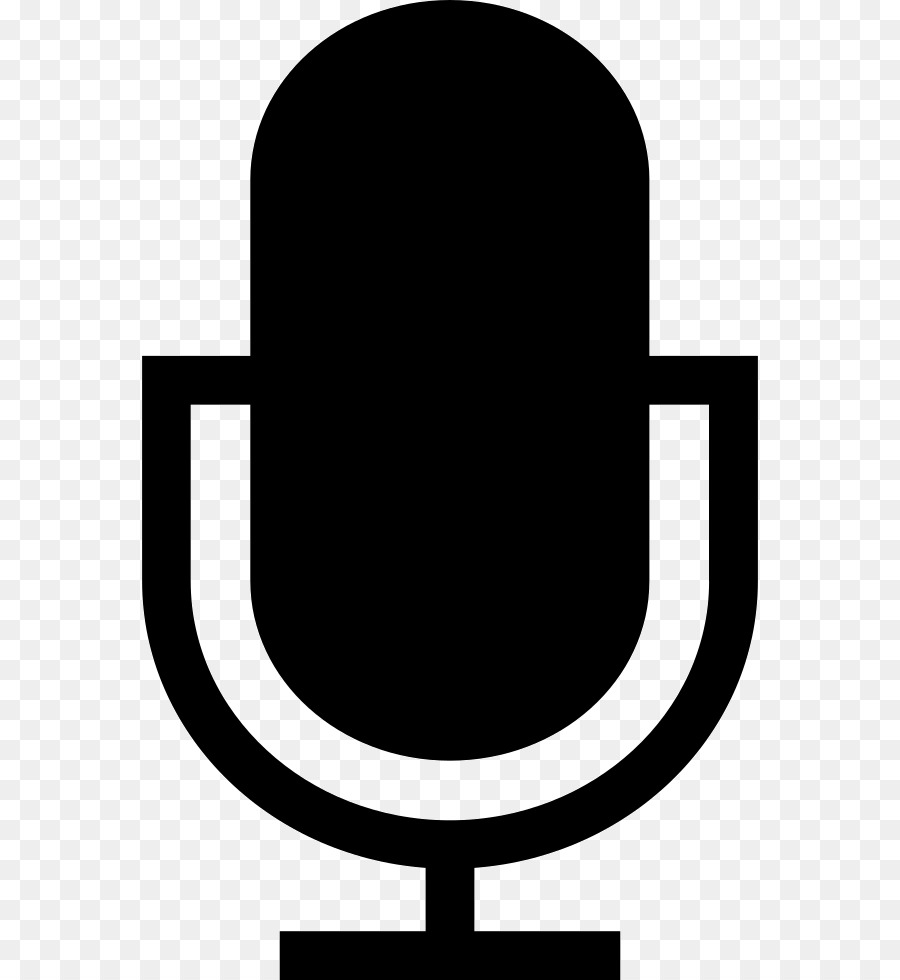 Microphone Black And White png download.