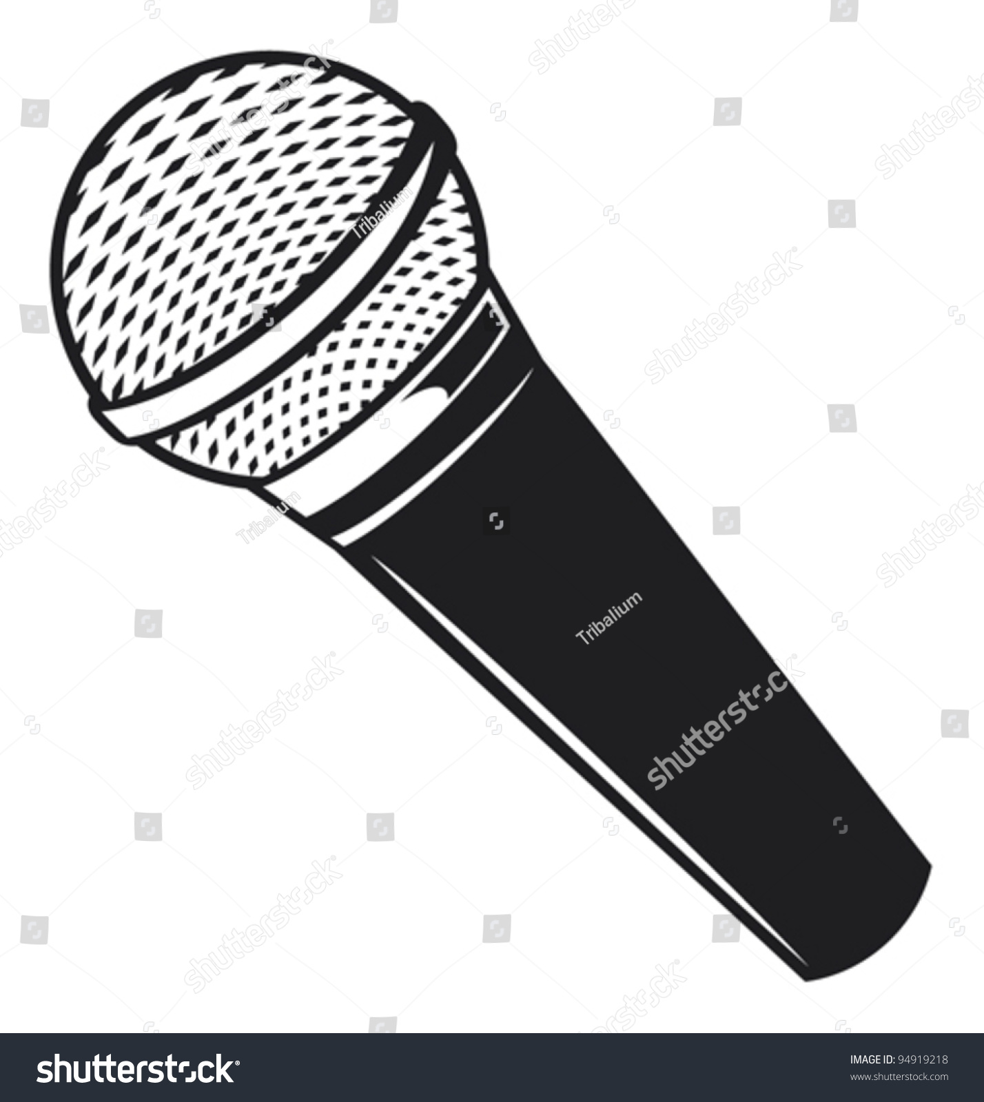 Microphone Clipart Black And White.