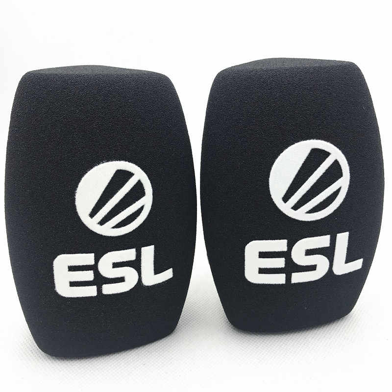 Linhuipad microphone sponge printing covers customized mic windscreens logo  foam windshield for TV stations reporters interview.