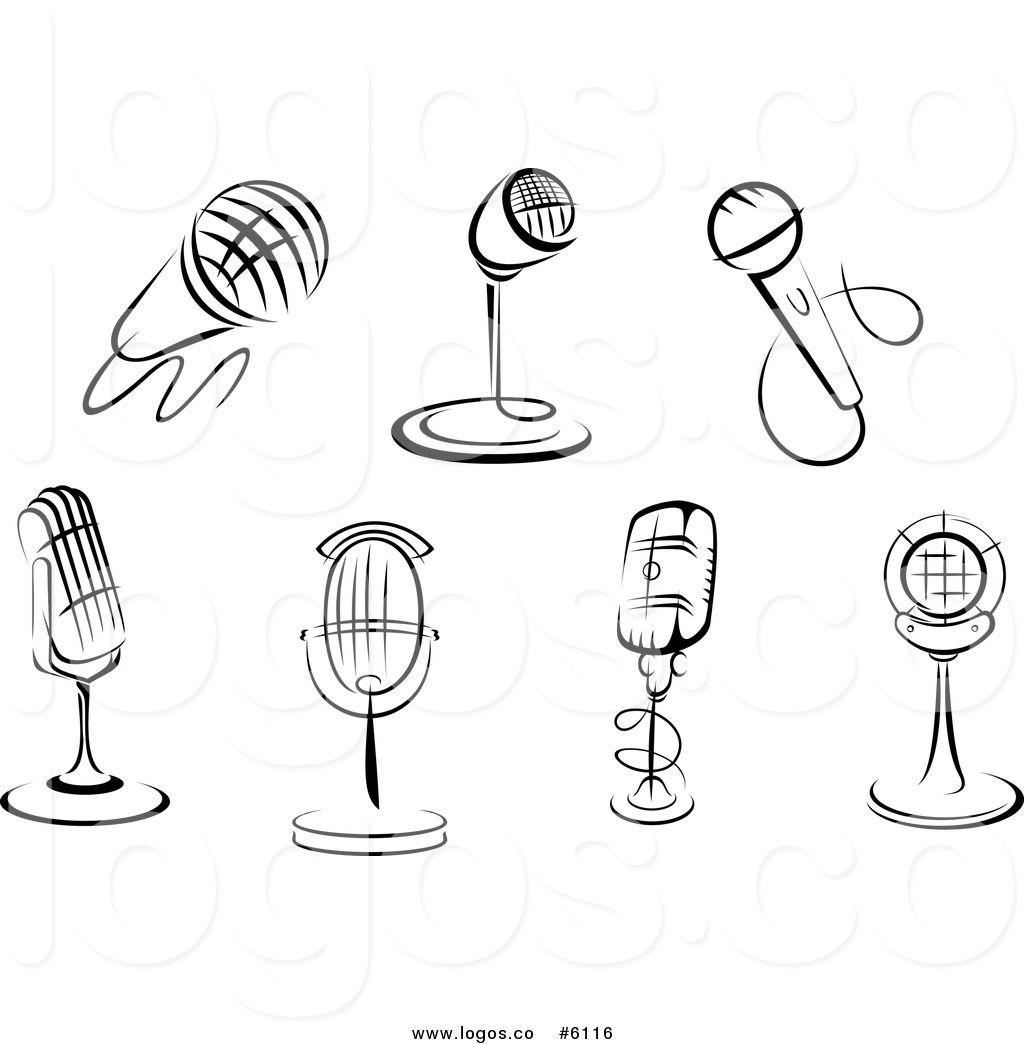 Radio Microphone Clipart.