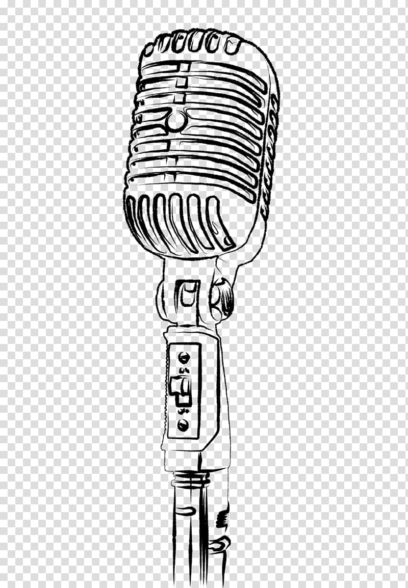 Condenser microphone , Microphone Drawing , line drawing.