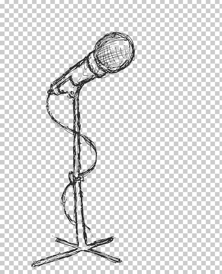 Microphone Drawing Painting PNG, Clipart, Art, Black And.