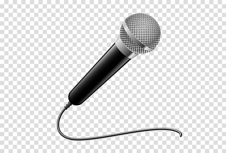 Microphone Drawing , creative pull the spot free transparent.