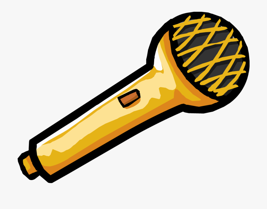 Microphone Clipart Gold , Transparent Cartoon, Free Cliparts.