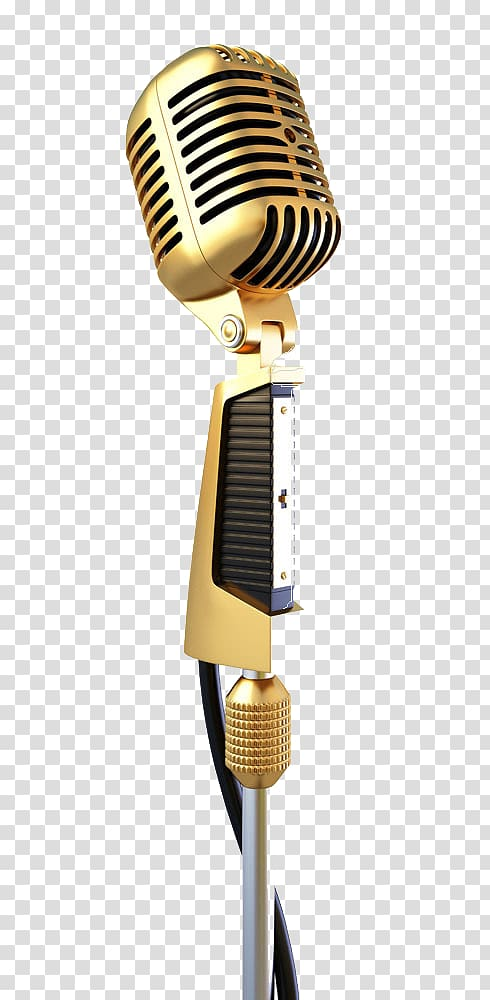 Gold condenser microphone, Microphone , Golden Microphone.
