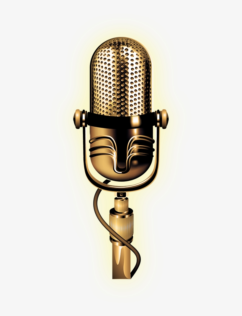 Gold Microphone Png (+).
