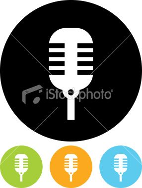Microphone Vector icon isolated.