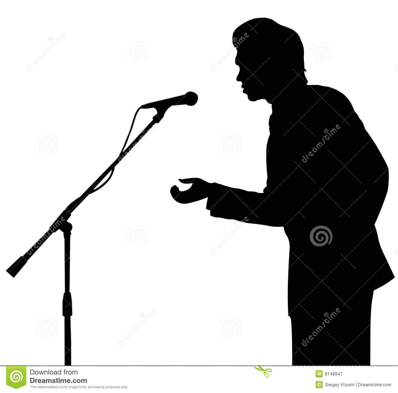 Microphone Silhouette Clipart.